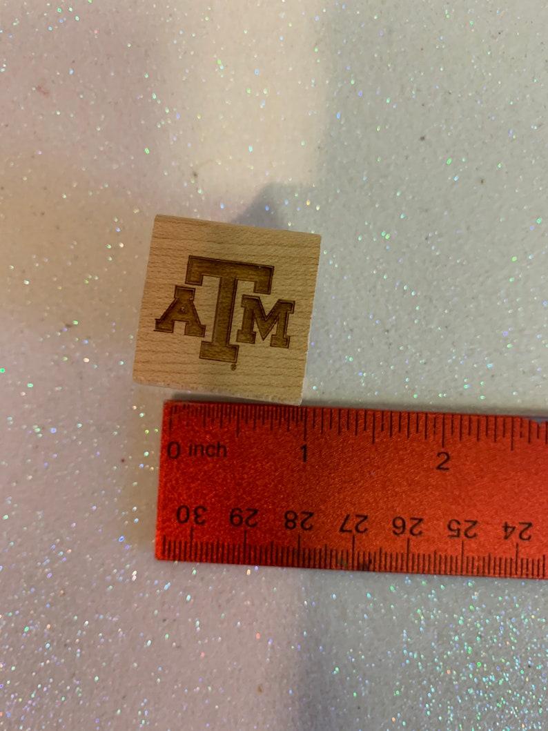 ATM stamp ATM University Rubber Stamp Rubber Stamp Ink stamp Wood stamp College wooden stamp