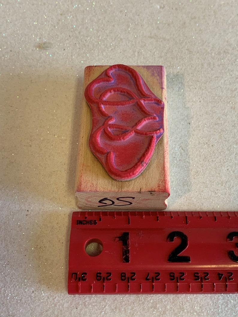 Wood stamp Rubber Stamp FR1027 stamp Wooden Rubber Stamp Stampabilities Three Hearts stamp Stampabilities stamp Ink stamp