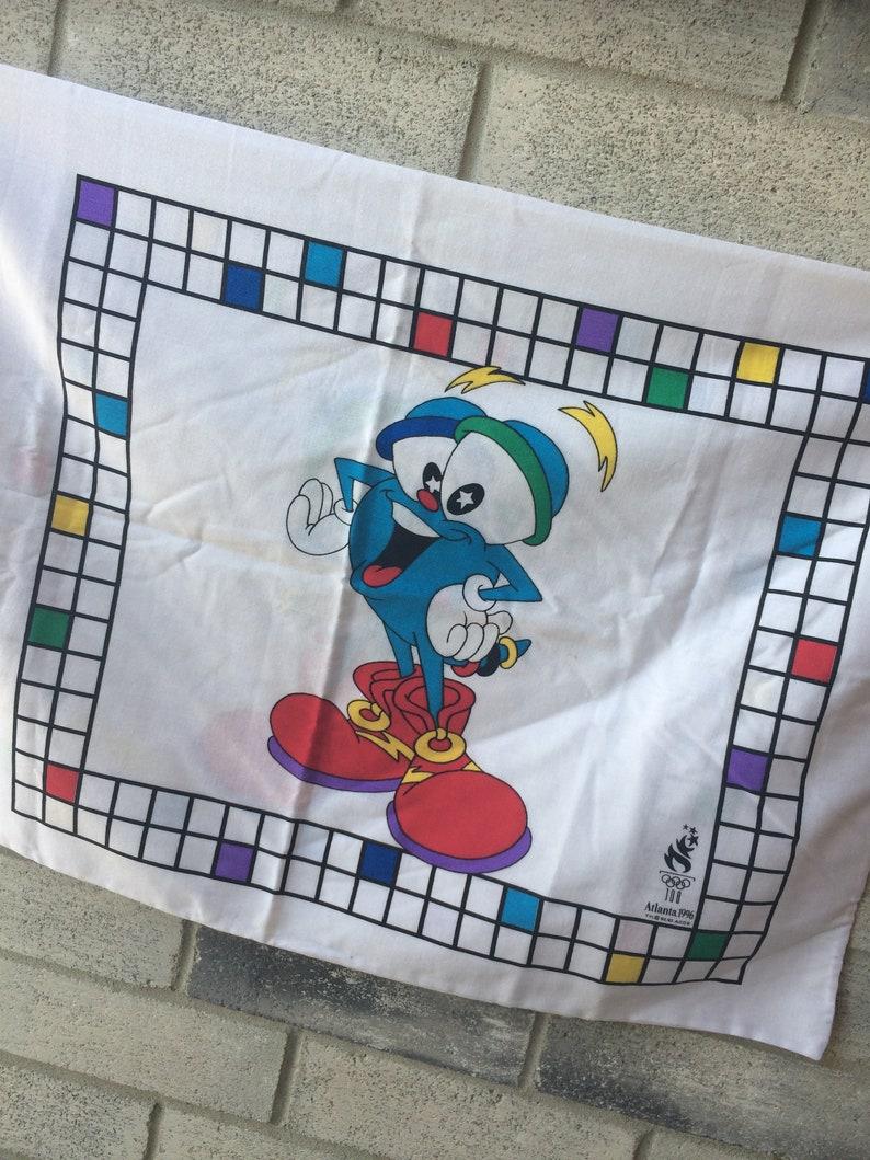 1996 Olympics mascot Izzy Pillow Case Olympics pillow Case Vintage 1996 Izzy Pillow Case Olympics Mascot Izzy