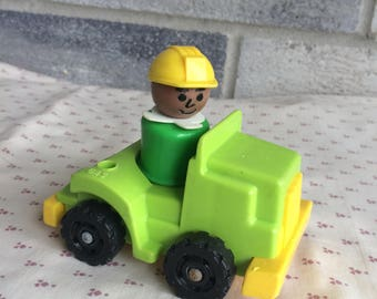 Fisher Price Trucker, Fisher Price Little People Toys, Little People, Little People figurines, little people construction truck