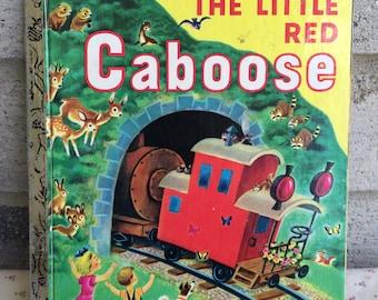 The Little Red Caboose, The Little Red CAboose A little Golden Book, vintage Golden Book