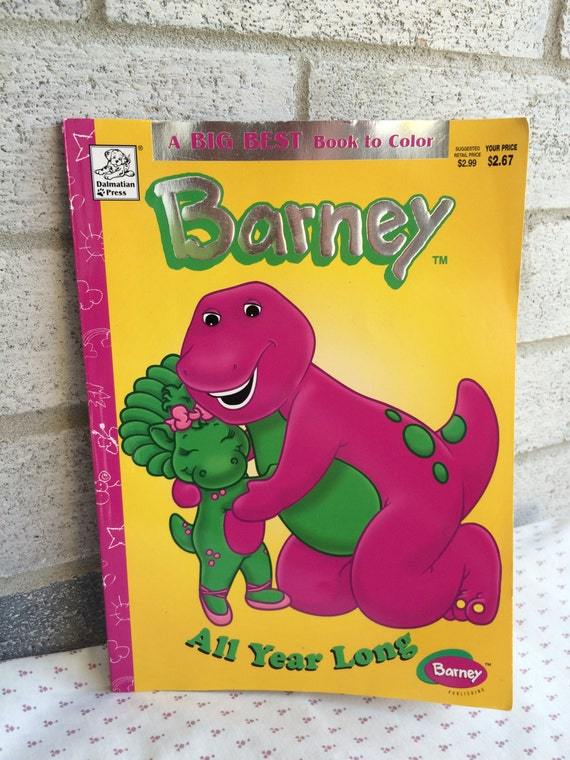 Barney Better than Ever Coloring book, Barney book, Barney coloring ...