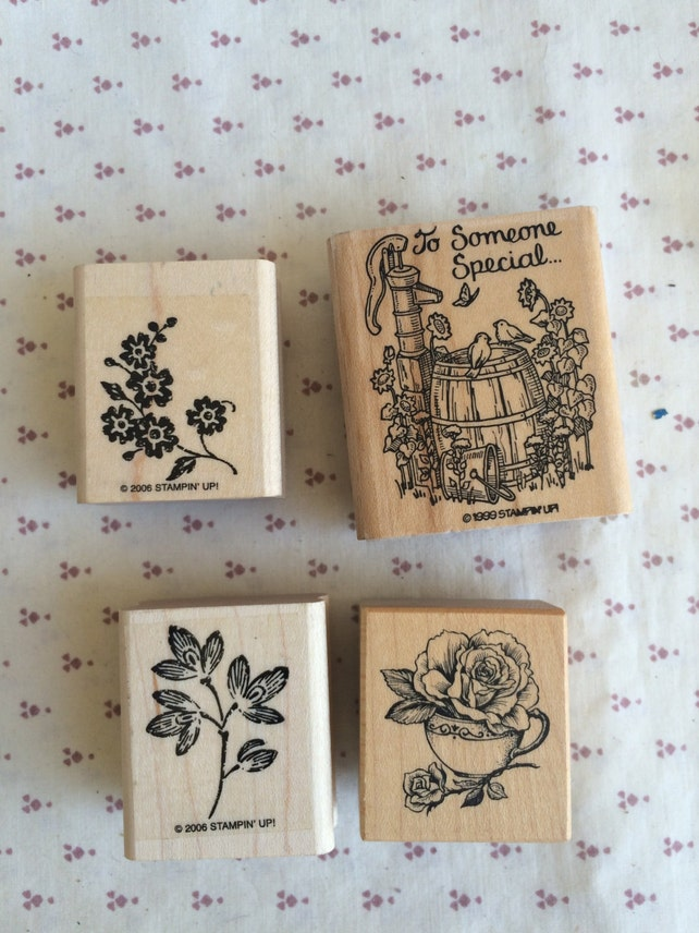 Retired Stampin up, Garden Themed stamp lot, Flower stamp, To Someone Special stamp, Roses stamp, Floral Samps