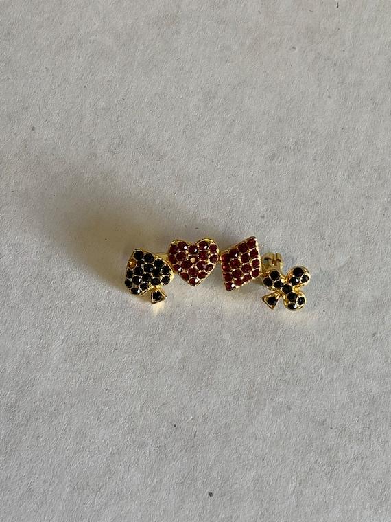 Poker Brooch, Poker Pin, Poker Jewelry, vintage Je