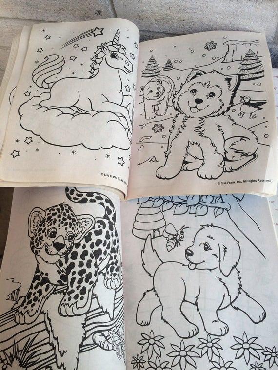 Libros para colorear de Lisa Frank | Etsy