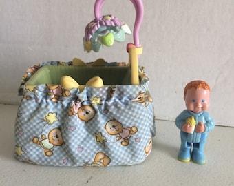 Vintage Fisher Price Loving family dollhouse baby boy,  Fisher Price Loving Family baby boy