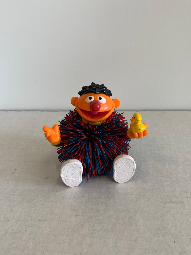 Vintage Sesame Street Ernie Kooshie toy, Sesame Street Ernie toy, VTG Mattel Ernie Figure, Ernie toy, Ernie Kooshie Koosh ball toy