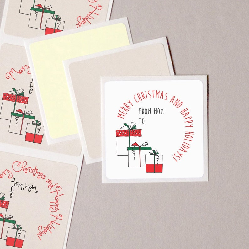 20 Personalized Gift STICKERS~ Gift Wrapped Packages