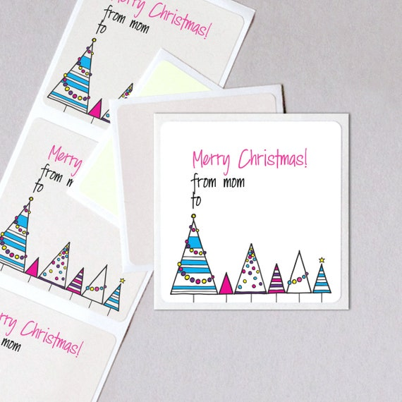 CHRISTMAS Personalised Wrapping Seal Stickers Present Gift Label kraft Chic  525