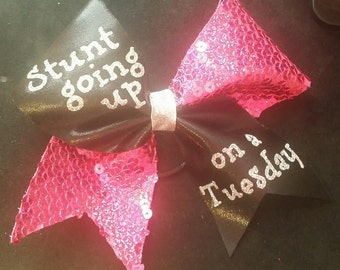 Stunt going up on a Tuesday cheer bow