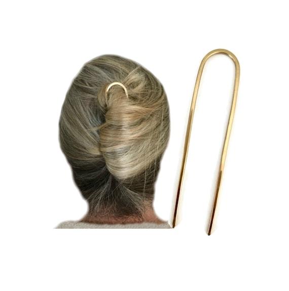 hairfork ~ metallo ottone accessori per capelli! Mini piccole Bastone per capelli, FORCELLA