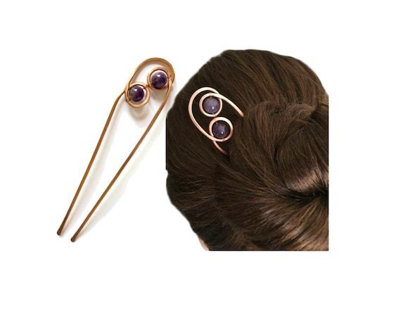 Bun Holder for FINE Hair Wedding Slide Comb Metal Hair Pin Gift for Women