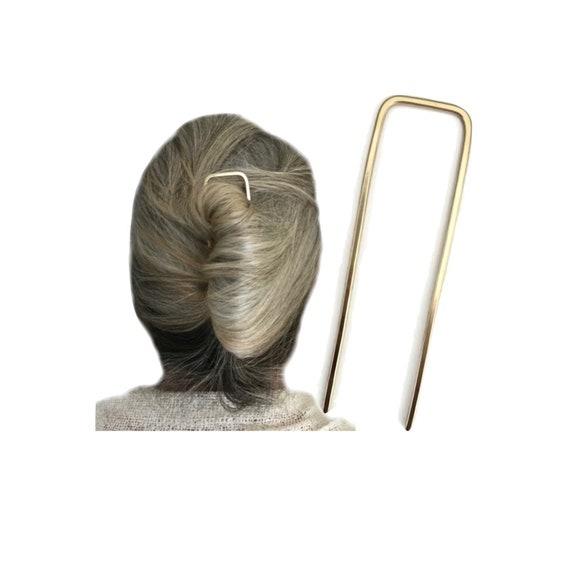 Celtic Hair Pin Hair Prong FINE HAIR Holder Gift for Women Indie Boho Hair Metal Bun Holder Silver Trinity Hair Fork