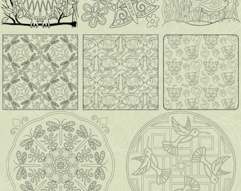 OrnaMENTALs™ Cute Critters Coloring Bundle of 10 Animals Coloring Pages