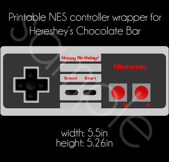 Printable Nintendo NES Controller Hershey\'s Chocolate Bar