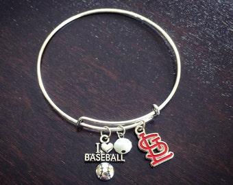 Red STL logo expandable bracelet