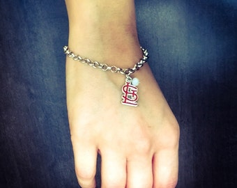 Red STL logo bracelet