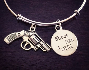 Shoot like a girl expandable bracelet