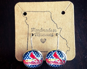 Limited Edition Cardinals leaver back earrings