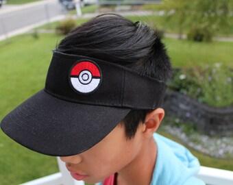Pokemon Go Hat, pokemon cap, Visor Hat, Pokeball Patch,Pokemon Gift, Pokemon, black or white, pokemon visor, Pokemon Go, Pokeball, Pokemon