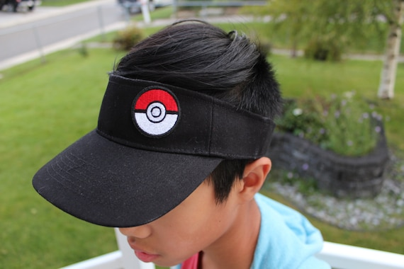 Pokemon Go Hat pokemon cap Visor Hat Pokeball PatchPokemon a351cf1a43c4