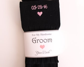 Groom socks, Gift for Groom from bride, IN CASE you get Cold Feet Grooms socks. Groom gift. Funny Wedding Gifts for groom. F21LB1