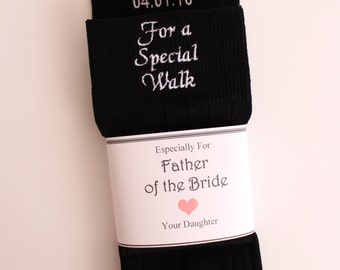 Father of the Bride socks, Special Socks for a Special Walk, custom date Wedding Socks,Father of the Bride Gift, F23LB8