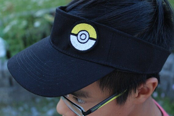 Pokemon Go Hat pokemon cap Visor Hat Pokeball PatchPokemon  85265d0e0f49