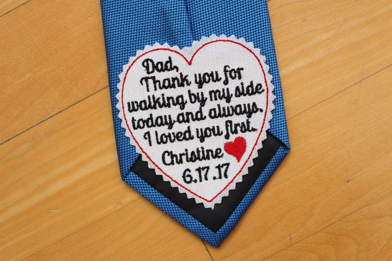 Father of the Bride Tie Patch tie label  3 wide image 0