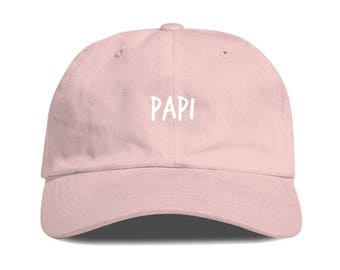 df9be8fead5 Light Pink PAPI Dad Hat Low Profile Unstructured Baseball Cap Embroidered Dad  Hats Baseball Hat Champagne Papi Strapback