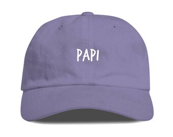 f437e99c601 Lavender PAPI Dad Hat Low Profile Unstructured Baseball Cap Embroidered Dad  Hats Baseball Hat Champagne Papi Strapback