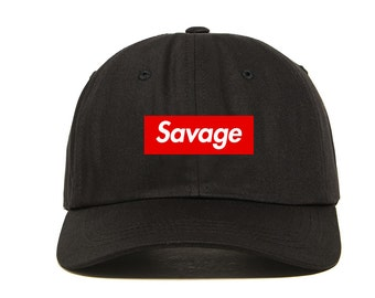98af082fb29 Savage Dad Hat Embroidered Flexfit Yupoong Strapback Hat Cap 21 Savage  Supreme Parody Anti Social Social Club Saint Pablo Yeezy