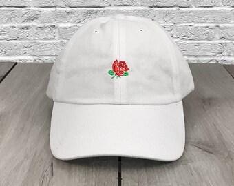 a8f004d9c9825 Rose Dad Hat White Flexfit Yupoong Vintage Strapback Hat Cap Supreme Anti  Social Social Club Saint Pablo Yeezy Lil Uzi Vert