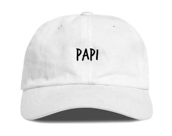 White PAPI Dad Hat Low Profile Unstructured Baseball Cap Embroidered Dad  Hats Baseball Hat Champagne Papi Strapback b5e5c16bbb08