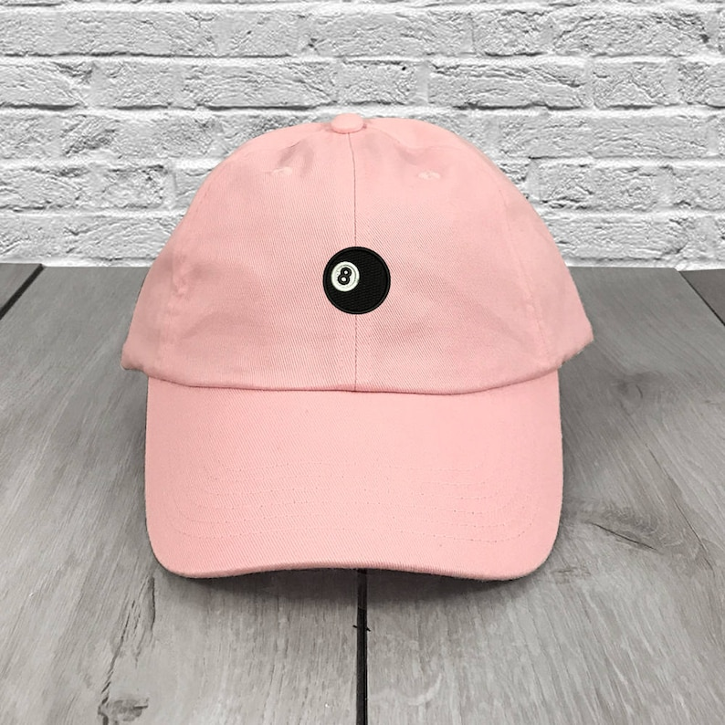 5e639e41ac5 8 Ball Dad Hat Pink Embroidered Curved Bill Baseball Cap Dad