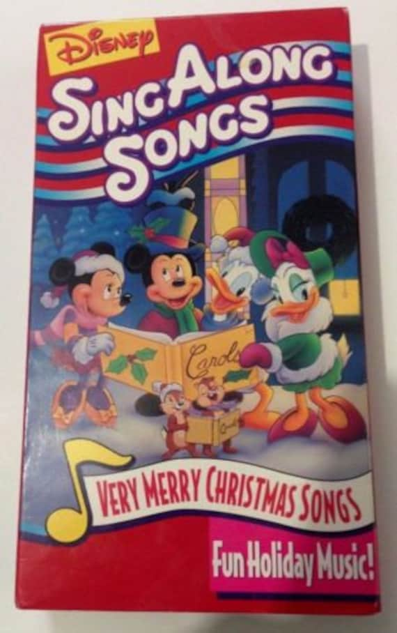 Disney Sing Along Songs Very Merry Christmas VHS Tape Paper | Etsy