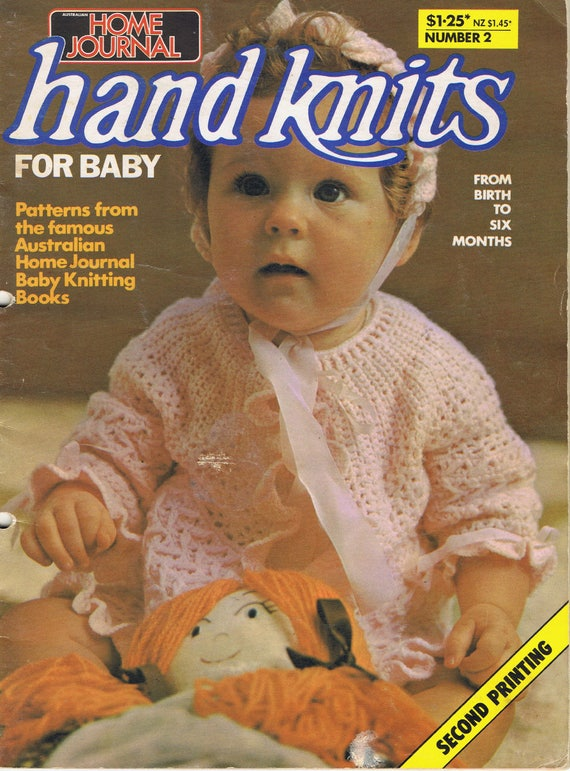 Vintage Home Journal Hand Knits For Baby Knitting Pattern Book Etsy