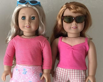 Fits American Girl doll:  watermelon now and later mix & match separates