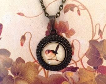 Little Peep Glass Cabochon Bird Necklace,Bird Necklace,Bird Pendant Necklace,Necklaces for Women,Fly To Me, flytomeshop, Karen Minkel