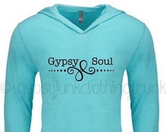 Gypsy Soul Shirt - Gypsy Hoodie - Gypsy Hoodie - Gypsy Top - Gypsy Soul Hooded Sweatshirt - Gypsy Soul Top - Vintage Top - Vintage Hoodie