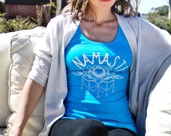 Namaste, Namaste Tank Top, Yoga Tank Top, Work Out Tee, Gym Shirt, Namaste at the Gym, Namaste Yoga Tee, Monochrome Tank Top Gifts for Women