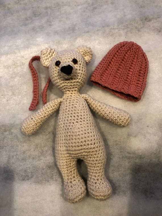 Crochet Teddy Bear Children Hat, Scarf, boot set with SOFT TOY age ... | 760x570