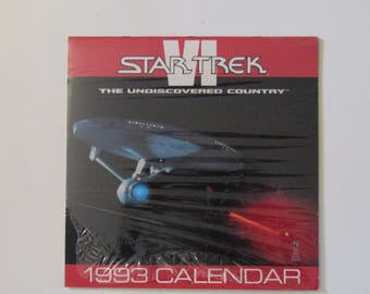 Star Trek The Undiscovered Country VI 1993 Calendar