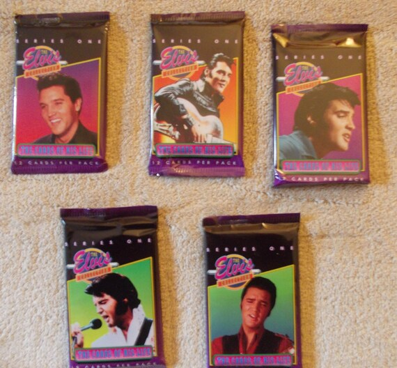 The Elvis Collection Trading Cards Series One 5 12 Pack Etsy