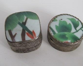Chinese Porcelain Shard Trinket Boxes-2