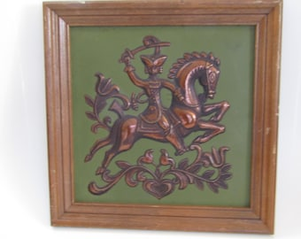 Vintage Tin French Wall Military Art