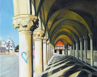 Venice Heart Giclee Print and card valentines day wall decor