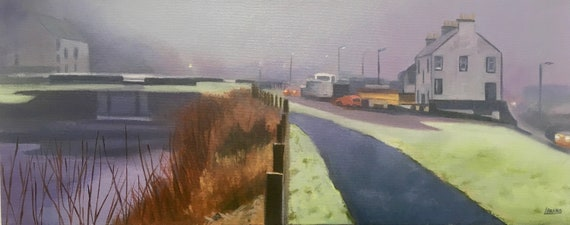 Original oil on deep edge canvas - Misty Ardrishaig