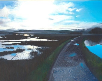 Giclee Print Crinan Canal Dawn