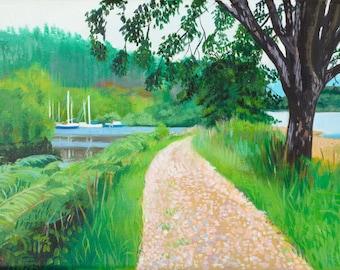 Giclee Print Crinan Canal  Bellanoch